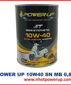 Dầu Nhớt xe máy tay ga Power Up 4T 10W-40