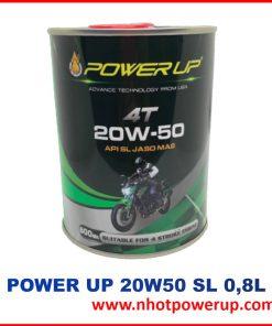 Dầu Nhớt xe máy tay ga Power Up 4T 20W-50